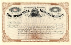 Ophir Bell Mining Company - Aspen, Colorado 1890s