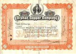 Orphan Copper Company - Arizona 1909