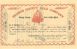 Orange County Lead Company - Orange County, New York 1862