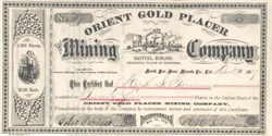 Orient Gold Placer Mining Company 1893 - North San Juan, Nevada County, California
