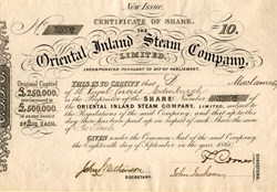 Oriental Inland Steam Company - England 1860