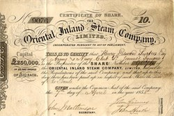 Oriental Inland Steam Company - England 1858