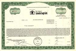 Lincoln Logs Ltd. - New York 1987