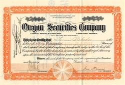 Oregon Securities Company (Oregon and South Eastern Railroad) - Oregon 1905