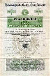 Osterreiche Boden Credit Austalt 1910 - Austria