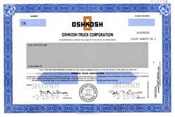 Oshkosh Truck Corporation - Wisconsin 1989