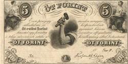 Ot Forint - Hungarian Fund -  1850's