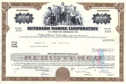 Outboard Marine Corporation 1977 $10,000 Bond - Pre Bankruptcy