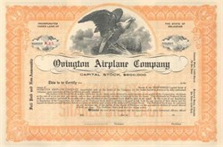 Ovington Airplane Company  ( Earle Lewis Ovington was the first Air mail Pilot in U.S. )