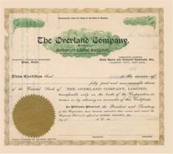 Overland Company 1900