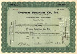 Overseas Securities Co., Inc. 1929 - 1931