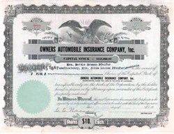 Owners Automobile Insurance Company, Inc. 1927 - Louisiana