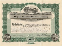 Owyhee Chemical Products Company - Idaho 1930