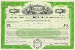 Owens Corning Fiberglas Bond Certificate
