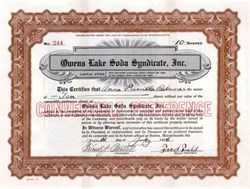 Owens Lake Soda Syndicate, Inc. 1926