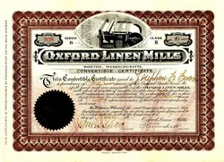 Oxford Linen Mills 1909