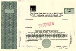 Palo Alto Salinas Savings and Loan Association - California