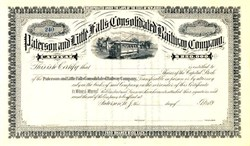Paterson and Little Falls Consolidated Railway Company - New Jersey 1890's