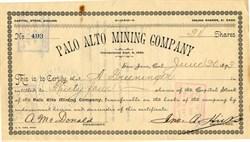 Palo Alto Mining Company - San Jose, California 1893