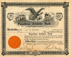 Pasadena Athletic Park - California 1908