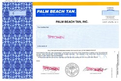 Palm Beach Tan, Inc.  (The Tanning Superstore) - Delaware 1995