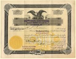 Pattison Brothers Kentucky Bourbon Distillery Co. - Covington, Kentucky 1918