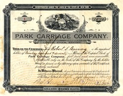 Park Carriage Company (Central Park Transportation)  - New York 1899