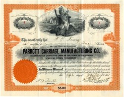Parrott Carriage Manufacturing Co. -  California 1901