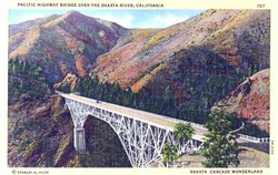 Pacific Highway Bridge Over the Shasta River, California Postcard