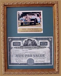 Packard Motor Car Company - Professionally Framed
