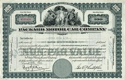 Packard Motor Car Company Stock 1940's
