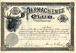 Parmachenee Club signed by Henry W. Poor (Standard & Poor's Fame) - 1896