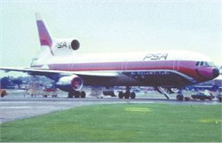 Pacific Southwest Airlines postcard Lockheed L-1011