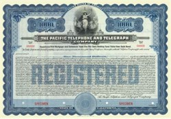 Pacific Telephone and Telegraph Company 1909 - 30 Year Gold Bond