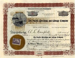 Pacific Wrecking and Salvage Company 1899 - Seattle, Washington