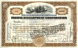 Pacific Development Corporation - New York 1921 ( Edward Bruce was President )