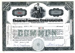 Pacific Finance Corporation ( Became Transamerica and Lockheed Aircraft Corporation ) - California 1929