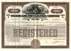 Pacific Gas and Electric Company $5000 Mortgage Bond - California