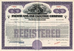 Pacific Gas and Electric Registered First and Refunding Mortgage Bond - California 1953
