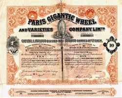 Paris Gigantic Ferris Wheel and Varieties Company, Ltd. - 1898