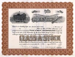 Page & Shaw Incorporated - Famous Candies and Chocolates