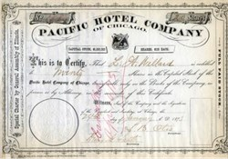 Pacific Hotel Company of Chicago - Illinois 1873