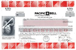 Pacific Bell, Inc. 8.70% Note - California 1991