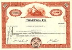 Parkview-Gem, Inc. (Drug Store Chain)  - Delaware 1970