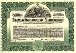 Palmer Institute of Authorship ( School for aspiring screenwriters)  - California 1925