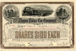 WAGNER PALACE CAR STOCK Signed by WEBB - 1890s