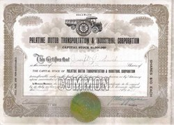 Palatine Motor Transportation & Industrial Corporation 1921