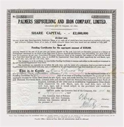 Palmer's Shipbuilding and Iron Company, Limited 1930