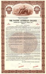 Pacific Lutheran College - Washington 1953