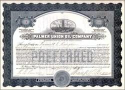 Palmer Union Oil Company 1913 - California - Sold